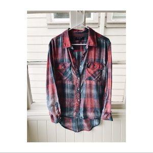 Bycorpus Vintage-Looking Worn Flannel